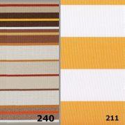 FIUME, 200 cm széles, csíkos,  UV álló, impregnált kültéri vászon - maradék darabok