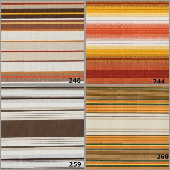 FIUME, 200 cm széles, mintás, előrendelhető, UV álló, impregnált kültéri vászon