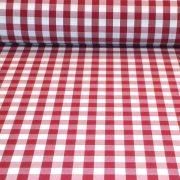 UV álló, teflonos kültéri vászon, piros kockás