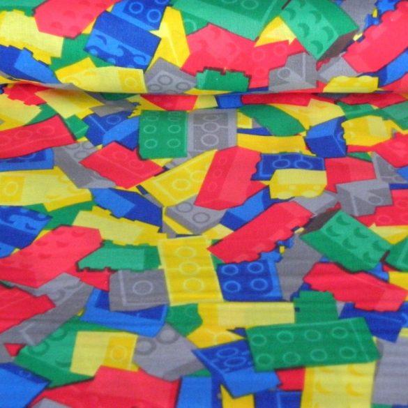 Bordó patchwork mintás pamutvászon