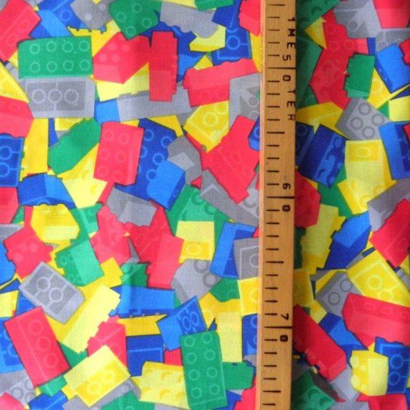 Drapp kis patchwork mintás pamutvászon