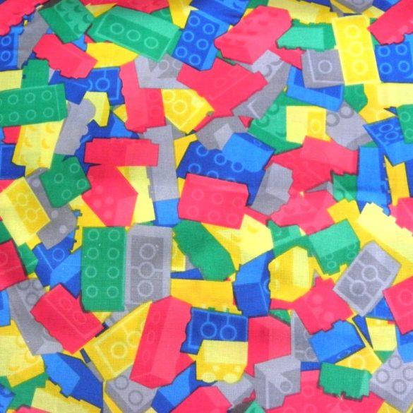 LEGO mintás pamutvászon