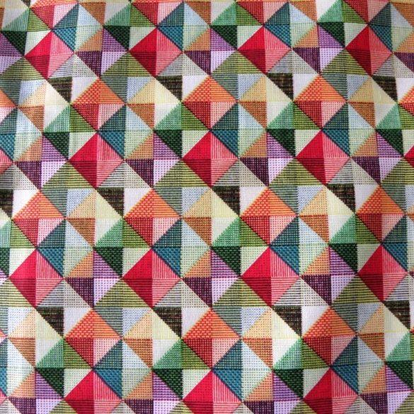 GEO, színes geometrikus nyomott mintás pamutvászon méteráru