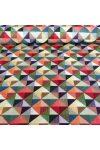 Drapp patchwork mintás pamutvászon
