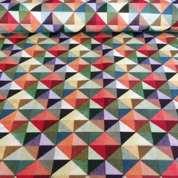 GEO, színes geometrikus nyomott nagymintás pamutvászon méteráru
