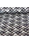 GEO, színes geometrikus nyomott mintás pamutvászon méteráru, nagymintás