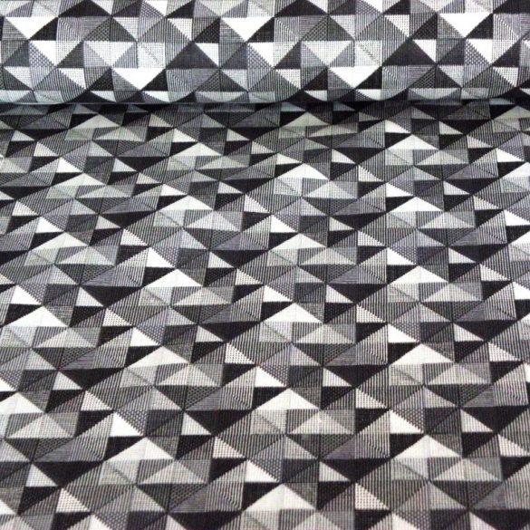 GEO, szürke geometrikus nyomott mintás pamutvászon