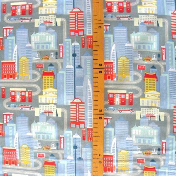 METROPOLIS, pamutvászon textil méteráru