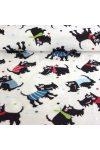 MARDEL, kutya mintás pamut vászon