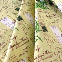 LOVE, lila, levendulás, patchwork mintás pamut vászon