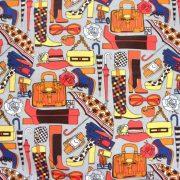 Lila patchwork mintás pamutvászon