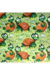 TEKNŐCE, teknősbéka mintás pamut vászon