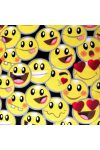 SMILEY, sűrű mintás pamutvászon