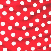 Piros nagy fehér pöttyös pamut vászon