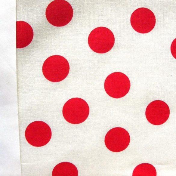 LIDI, fehér-piros szórt leveles pamutvászon