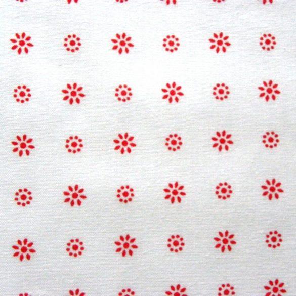 LIDI, piros apró virágos pamutvászon