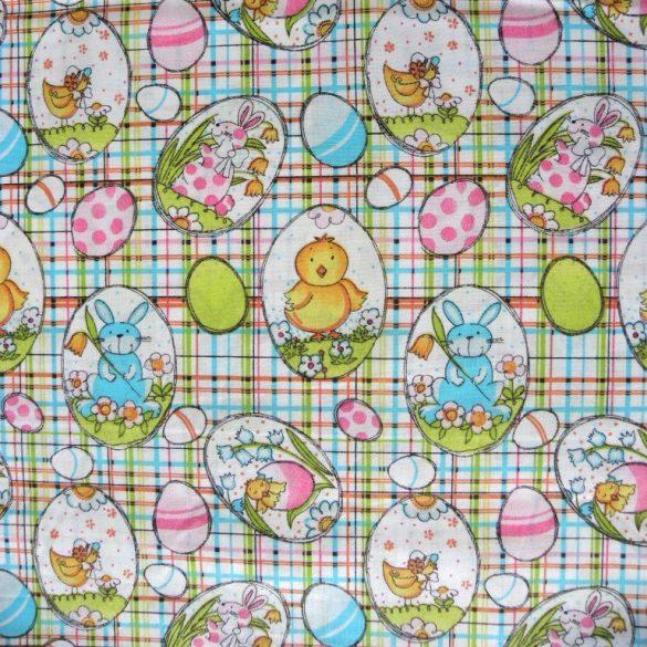 PIPI, csibés, nyuszis, húsvéti mintás pamut vászon
