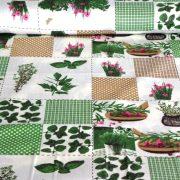 HERBA, fűszeres, patchwork mintás pamutvászon