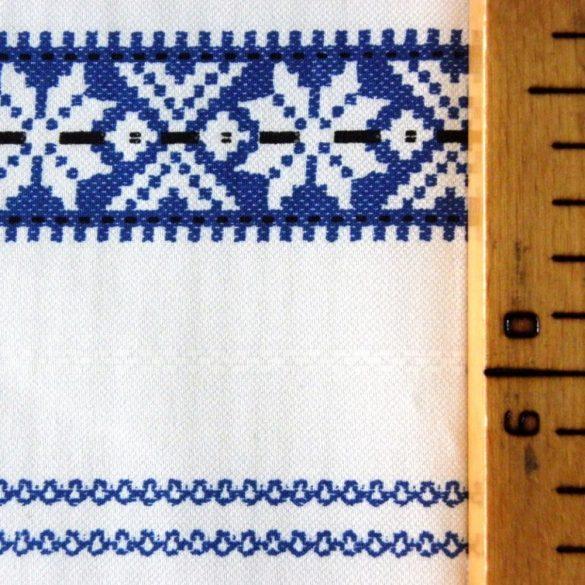 PALÓC-2, szőttes, száda kék mintás pamut vászon