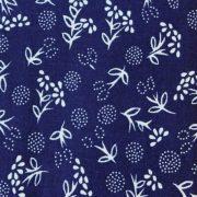 PIPITÉR, kék, kékfestő mintás pamut vászon