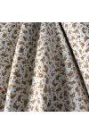 TARA, bézs, drapp kis virágmintás pamutvászon méteráru