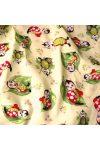 Katicás, leveles krém gyerektextil pamutvászon méteráru