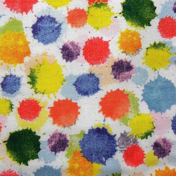 PACA, színes folt mintás pamutvászon méteráru