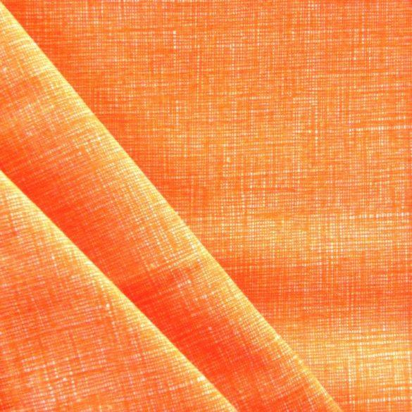 Raszteres egyszínű pamutvászon - narancs