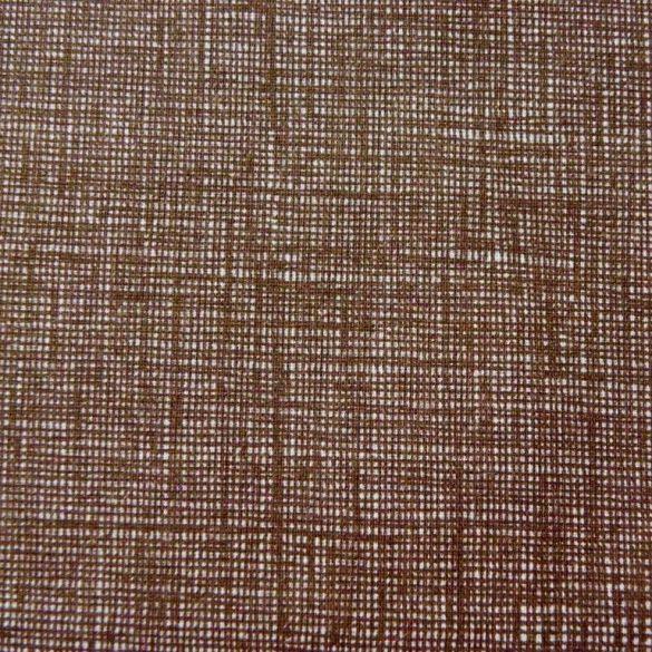 Raszteres egyszínű pamutvászon - barna
