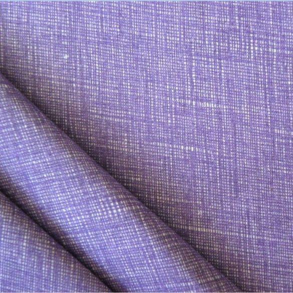 Raszteres egyszínű pamutvászon - levendulalila