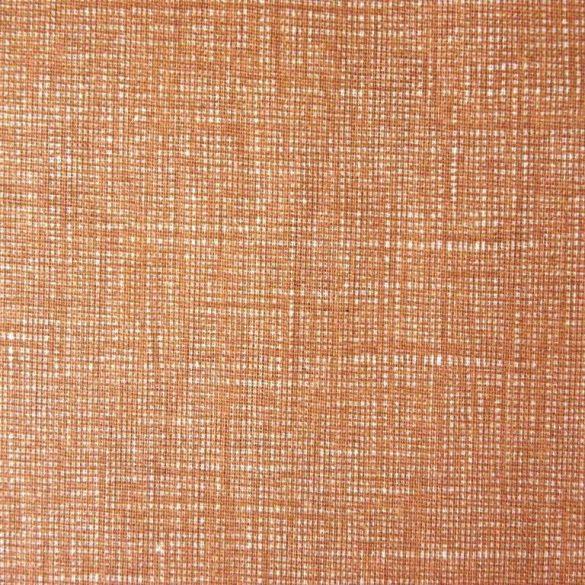Raszteres egyszínű pamutvászon - mogyoró