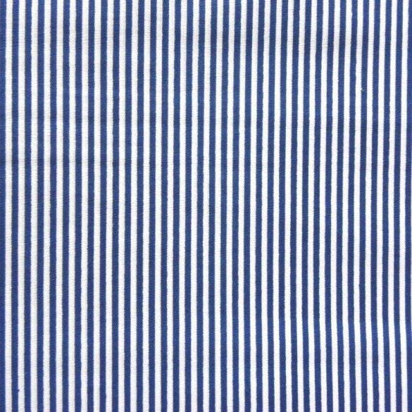LINE, vékonycsíkos pamutvászon, kék