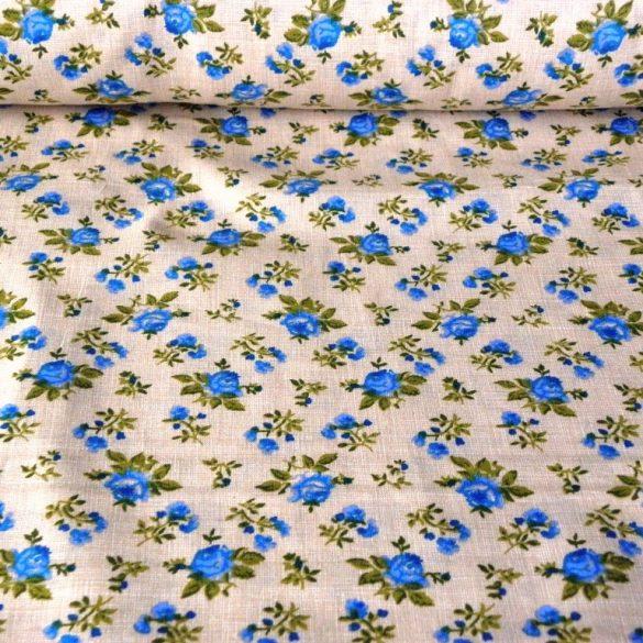 RÓZA, kék rózsák, drapp raszteres alapon