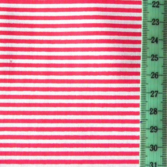 LINE, vékonycsíkos pamutvászon, piros
