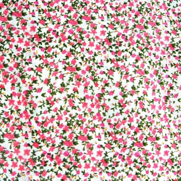 FIORI, apró virágmintás pamutvászon, rózsaszín