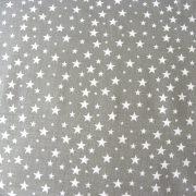 Szórt csillagok mintás pamutvászon - szürke
