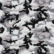 Terepmintás szürke-fekete pamutvászon