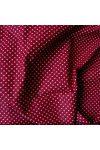 Bordó apró pöttyös pamut vászon