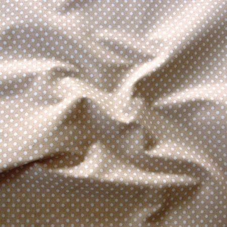 Drapp apró pöttyös pamut vászon