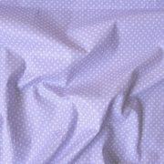 Levendulalila apró pöttyös pamut vászon
