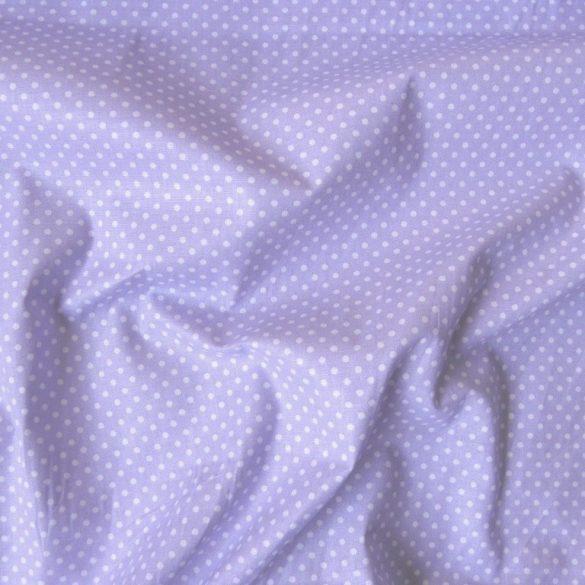 Halványlila apró pöttyös pamut vászon