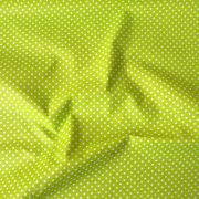 Kiwizöld apró pöttyös pamut vászon