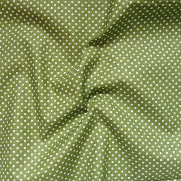 Zöld apró pöttyös pamut vászon