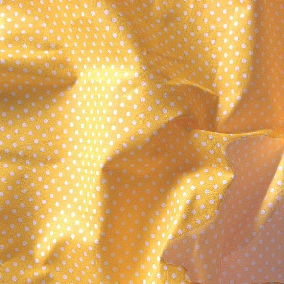 Napsárga apró pöttyös pamut vászon