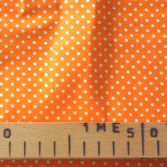 Narancssárga apró pöttyös pamut vászon