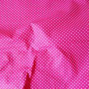 Pink, fuxia apró pöttyös pamut vászon
