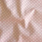 Mauve, púderrózsaszín apró pöttyös pamut vászon