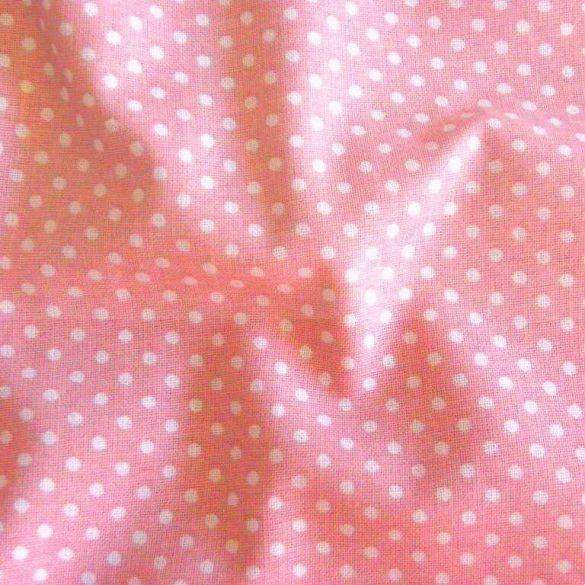 Mauve, lilásrózsaszín apró pöttyös pamut vászon