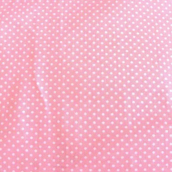 Mauve, lilásrózsaszín, púderrózsaszín apró pöttyös pamut vászon
