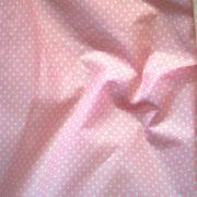 Rózsaszín apró pöttyös pamut vászon